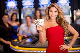Live casino dealer girl