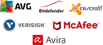 AVG, Bitdefender, Avast, Verisign, McAfee, Avira